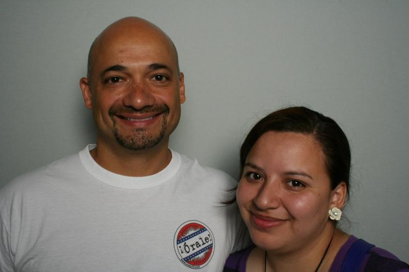 Jerry Gonzalez and Estela Martinez at StoryCorps Atlanta