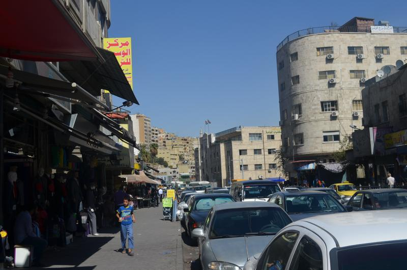 From the street below Maryam's flat is one of several neighborhood markets and vendors.