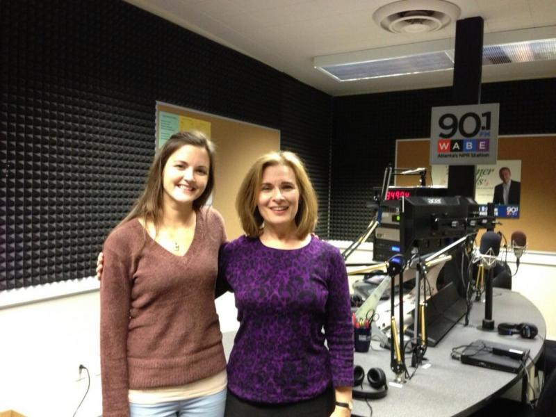 ASO cellist Jennifer Humphreys (left) with WABE's Lois Reitzes
