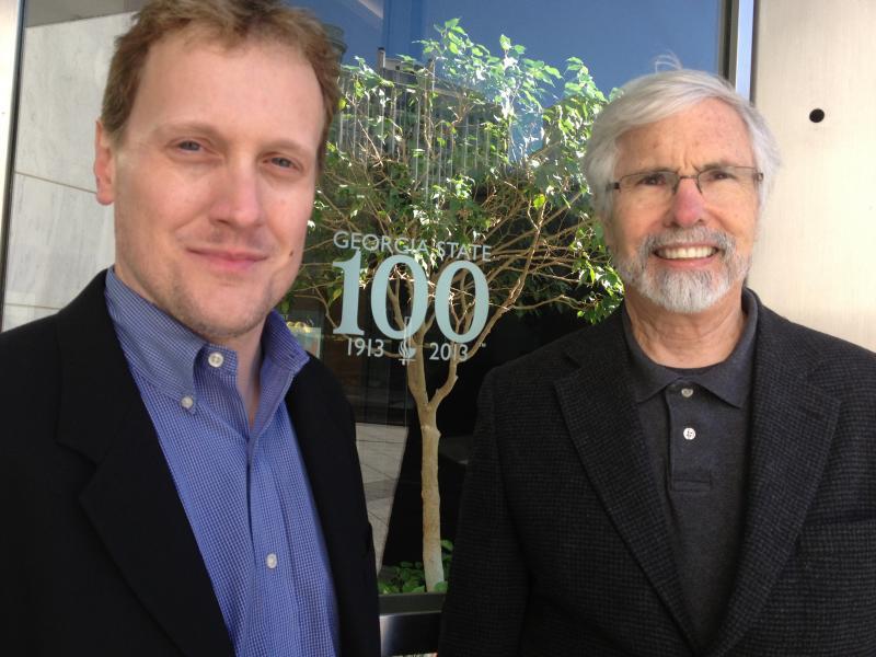 John Lemley and Dr. Tim Crimmins outside 25 Park Place