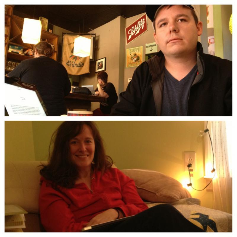 Writers Daniel Lamb and Laurel Snyder