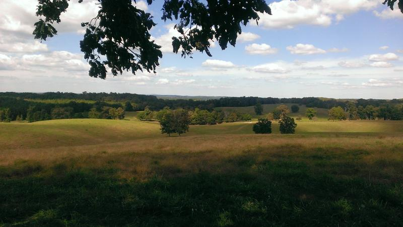 A scenic view from the Silver Comet Trail between Rockmart and Cedartown.