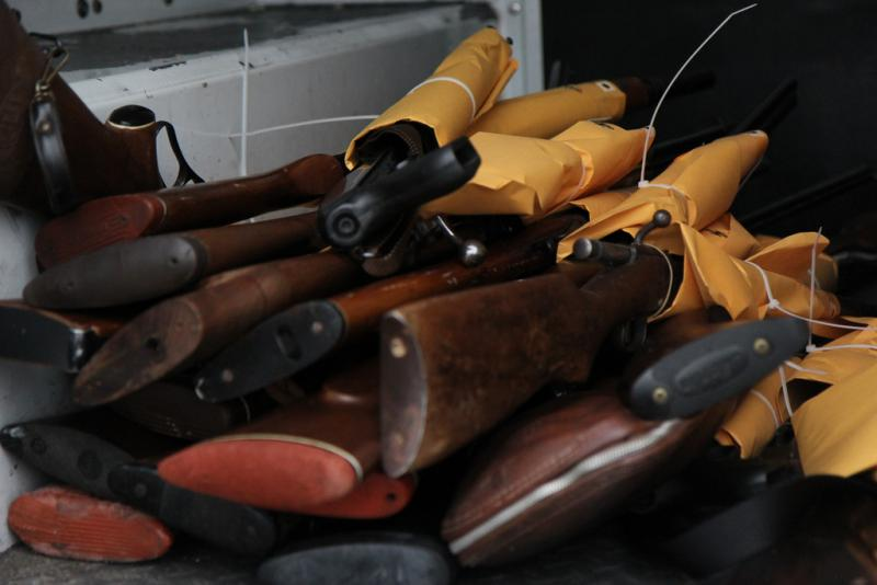 Gun buyback programs have been used by cities all over the country, such as this gun buyback program in Oakland, California, in 2012.