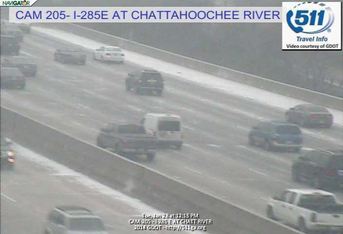 I-285 near Riverside Drive and the Chattahoochee River at around 12:15 p.m. today.