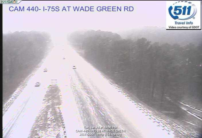 From Georgia Navigator, a shot of I-75 at Wade Green Road near Kennesaw.