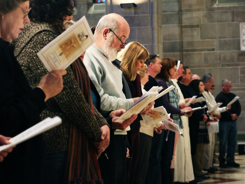 Singing at the Mass for the Unborn, Cathedral of Christ the King