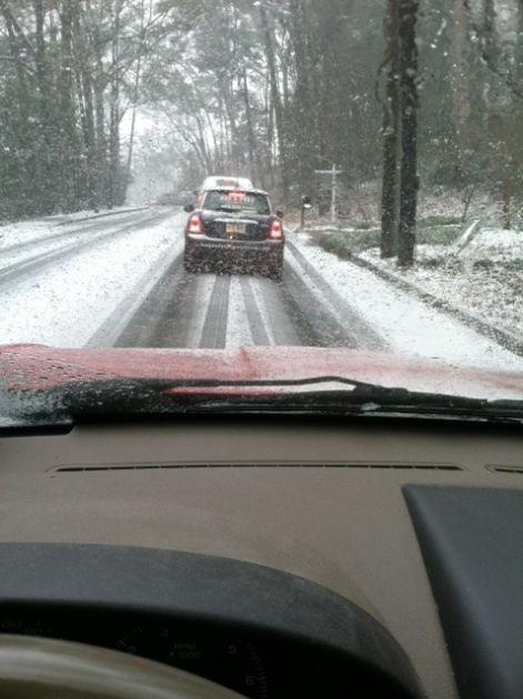 John Lorinc sent us this picture from his drive home; taken around 1:20 p.m.