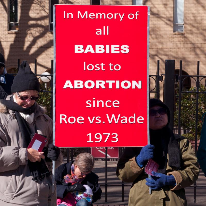 A sign at today's pro-life rally at the State Capitol.