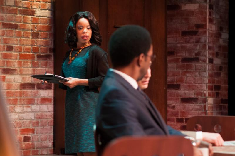 Actor Tiffany Hobbs in True Colors Theatre Company's production of David Mamet's Race