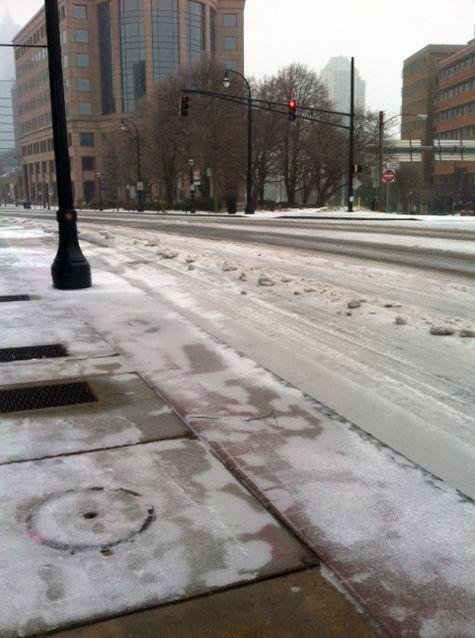 Peachtree Street at Pershing Point just north of Midtown.