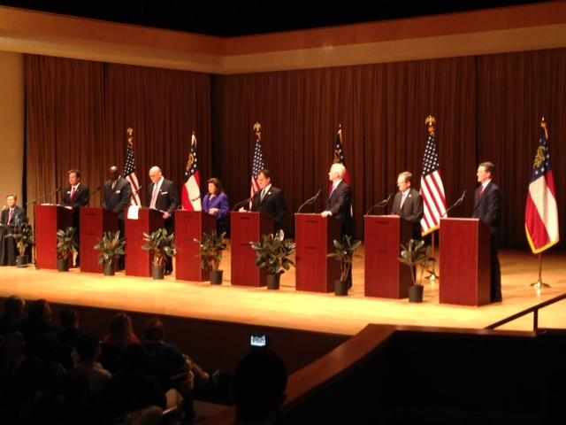 All eight Republican candidates participated in this second of seven debates.