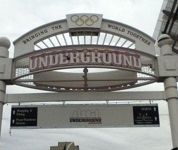 One of the entrances to Underground Atlanta.