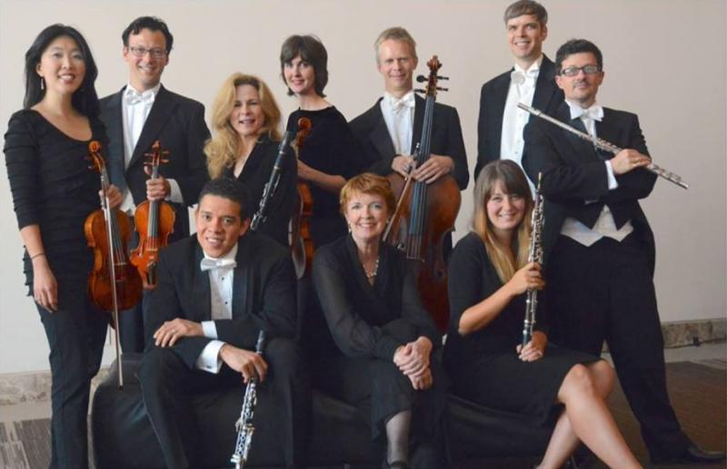 Paula Peace (seated, center) and members of the Atlanta Chamber Players. Peace is retiring after 38 years with the group.