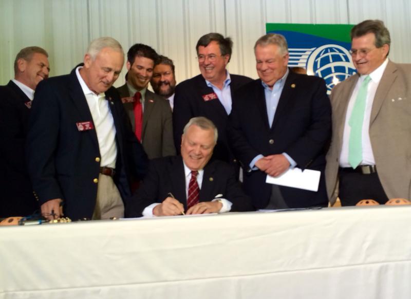 In Ellijay, Gov. Deal, signed the new gun legislation into Georgia law on April 23, 2014.