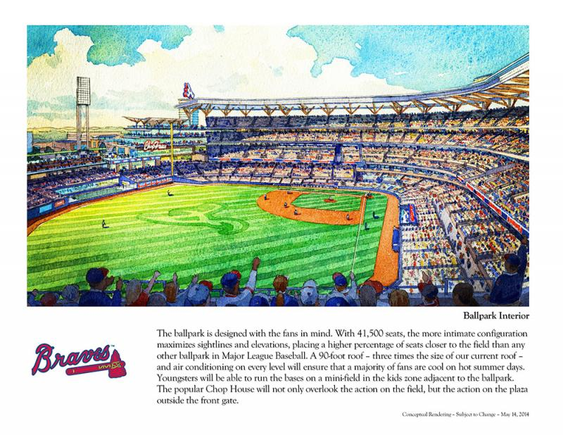 The Braves released more details about their plans for their new stadium in Cobb County.