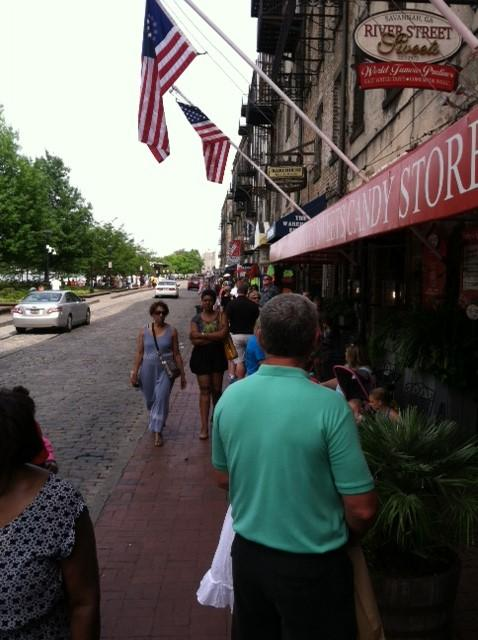 River Street is one of downtown Savannah's more popular spots.