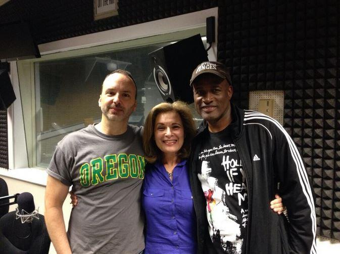 Chris Coleman (from left), Lois Reitzes, and Kenny Leon in WABE's Studio 4