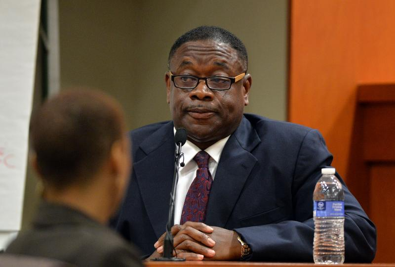 Kelvin Walton testified for a second day today in the Burrell Ellis corruption trial in DeKalb County Superior Court (photo taken September 23, 2014).