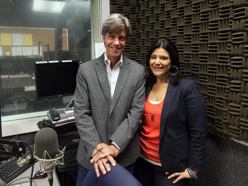 Mara's Music Mix hosts Steve Goss and Mara Davis