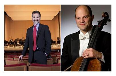 Dr. Stanley Romanstein (left), President of the Atlanta Symphony Orchestra, and Joel Dallow (right), member of the Atlanta Symphony Orchestra Players Association committee and a cellist with the ASO.
