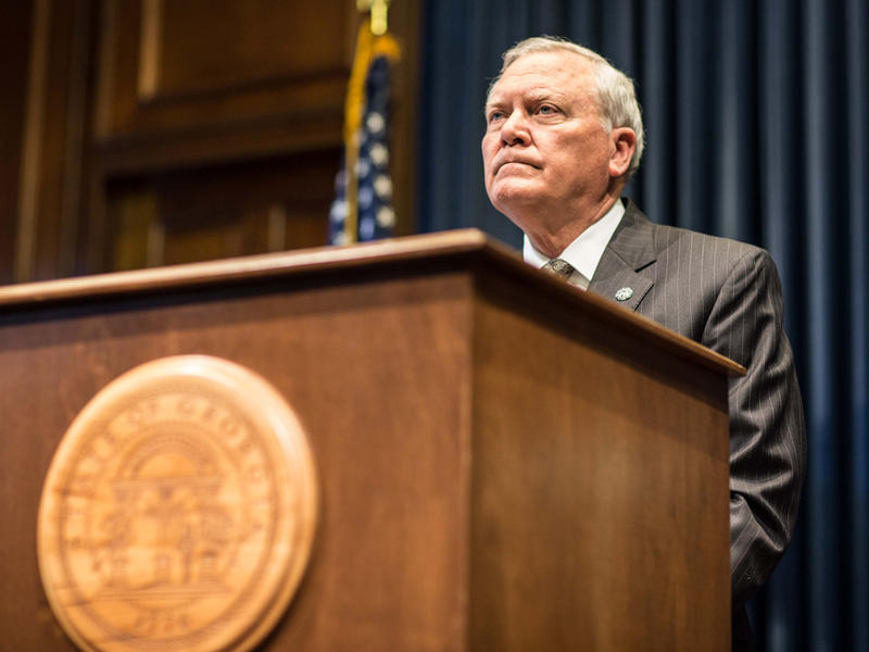 Georgia Gov. Nathan Deal speaks during a press conference on Oct. 20, naming members of the Georgia Ebola Response Team.