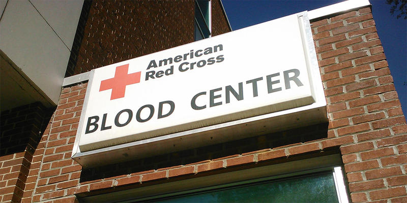 The Red Cross blood donation center in midtown Atlanta.