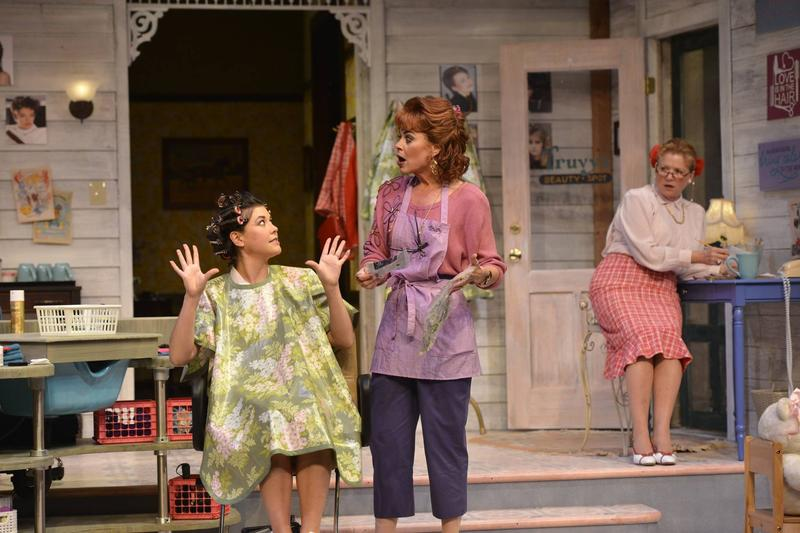 Photo of Zoë Winters (from left), Deirdre Lovejoy, and Becky Ann Baker in the Alliance Theatre's 2014/15 production of Steel Magnolias.