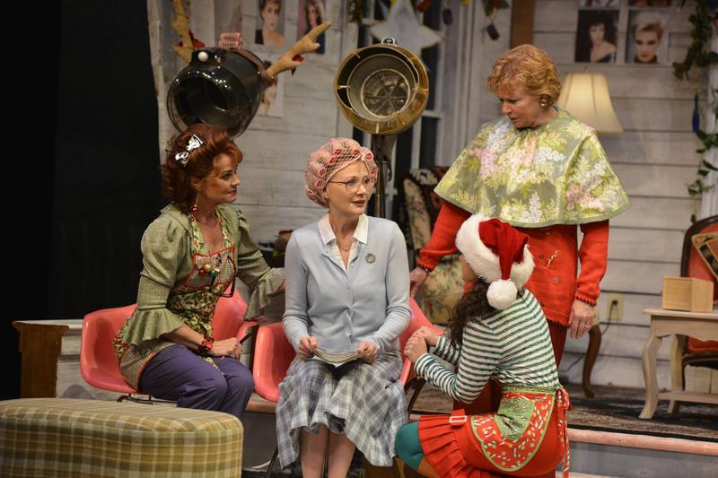 Photo of Deirdre Lovejoy (from left), Beth Broderick, Sarah Stiles, and Becky Ann Baker in the Alliance Theatre's 2014/15 production of Steel Magnolias.