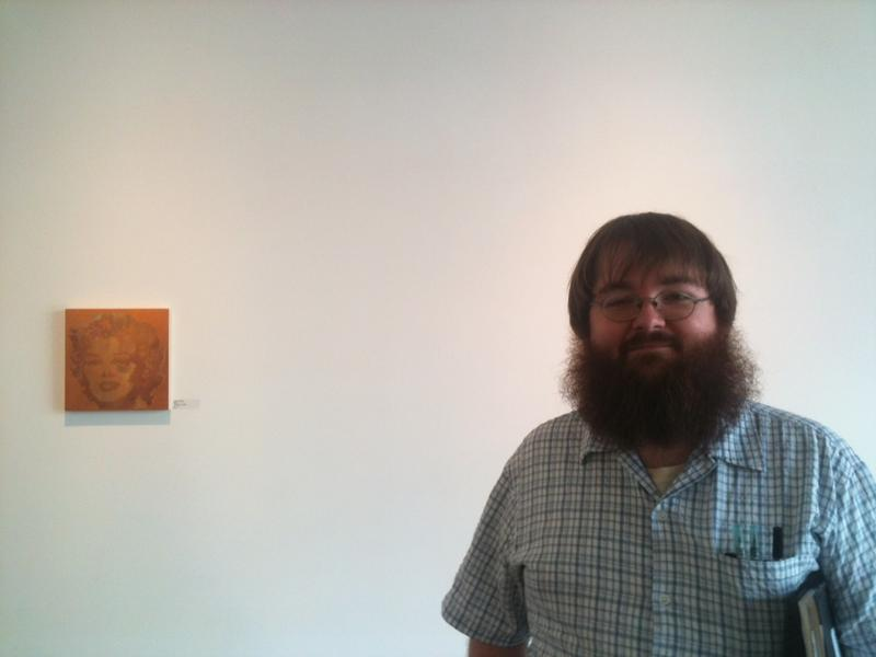 Artist Ashley Anderson at the Emily Amy Gallery in 2012