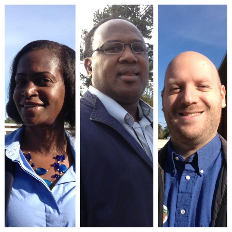 Clayton voters Rhonda Shelton, Lewis Corbitt & Michael Ozment