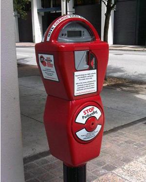 homeless meter Downtown Atlanta