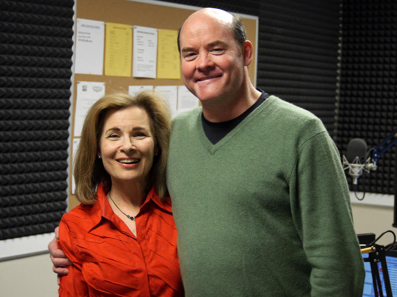 Lois Reitzes and David Koechner in WABE's Studio 4