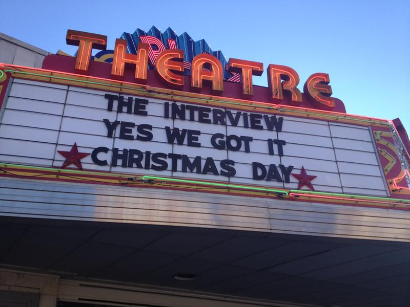 The Plaza Theatre in Atlanta is one of the first to show the movie, The Interview.