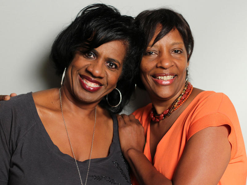 Pam Moore and Lorene Bromfield at StoryCorps Atlanta.