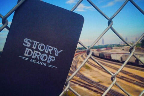 A Story Drop notebook waiting to be found...somewhere in Atlanta.