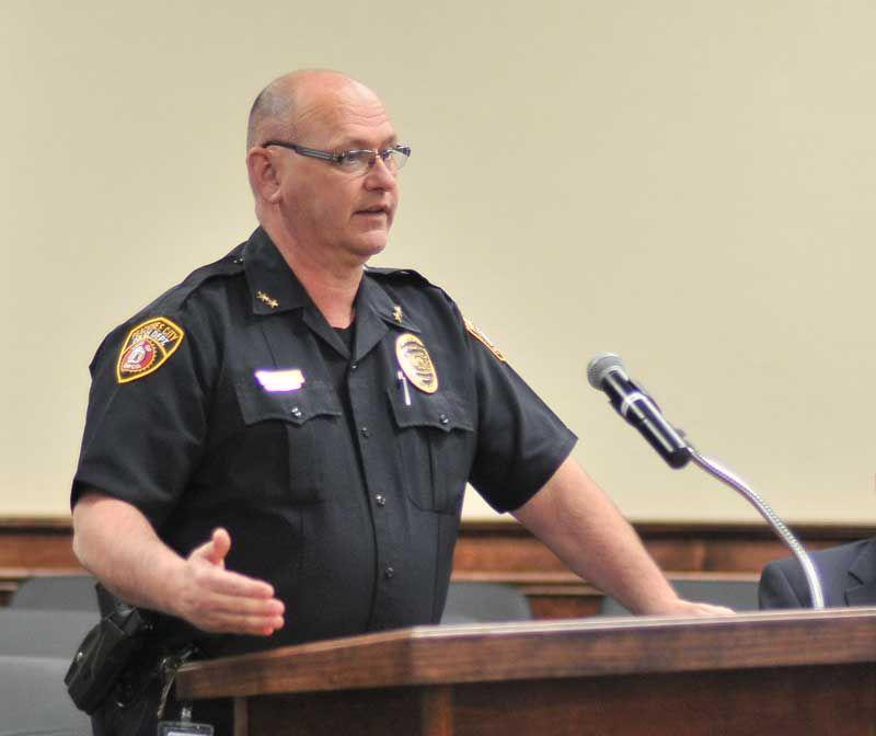 Peachtree City Police Chief William McCollom called a 911 dispatcher at 4:17 a.m. on New Year's Day and told the dispatcher he accidentally shot his wife Margaret McCollom.
