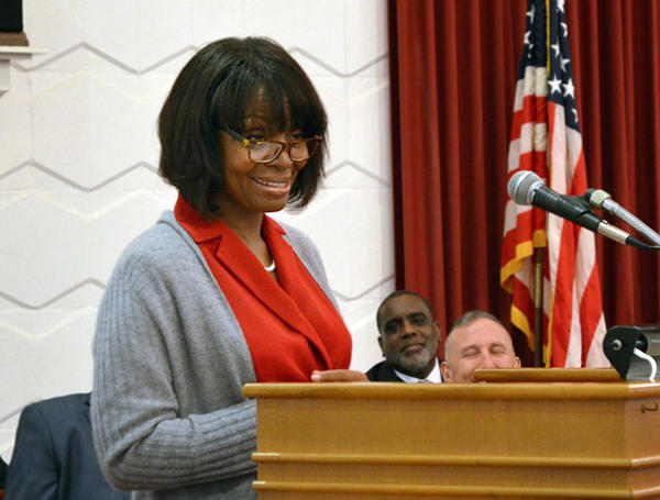 Dr. Karen Baynes-Dunning speaks at Marine Corps Logistics Base - Albany, Jan. 13, 2015.  http://www.albanyherald.com/news/2015/jan/13/karen-baynes-dunning-former-juvenile-judge-speaks/