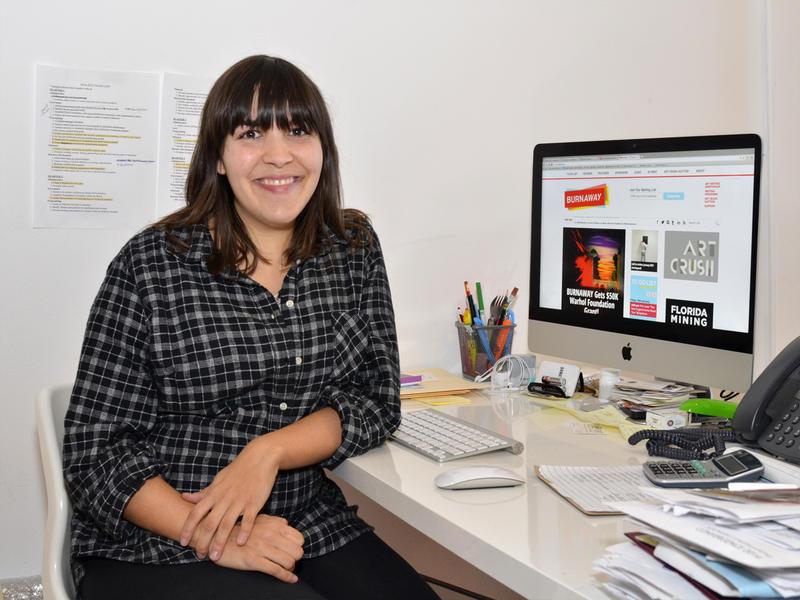 Susannah Darrow in the BURNAWAY office.