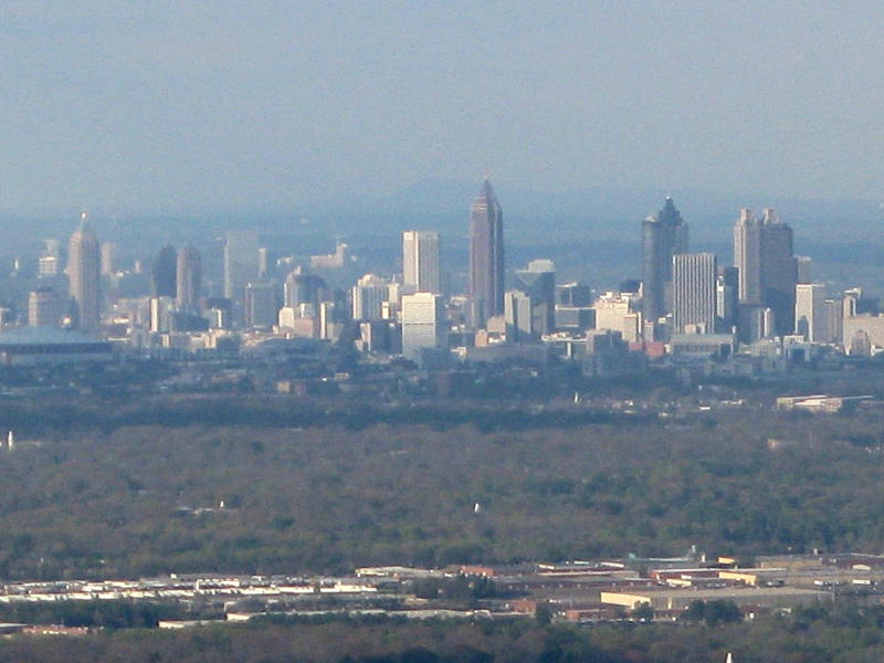 Atlanta skyline in smog. http://commons.wikimedia.org/wiki/File:Atlanta_cityscape_032008.jpg
