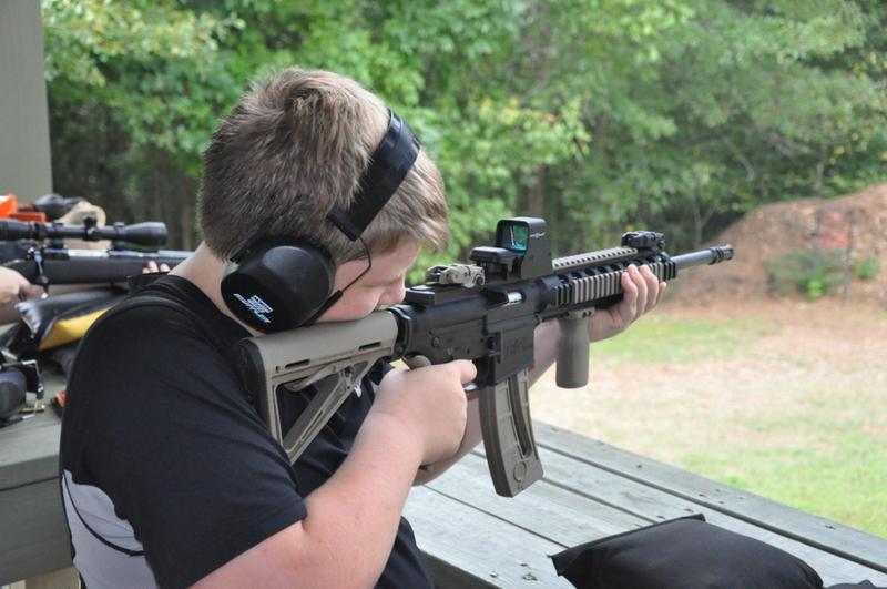 Brad Ward's shooting range in Williamson, GA.