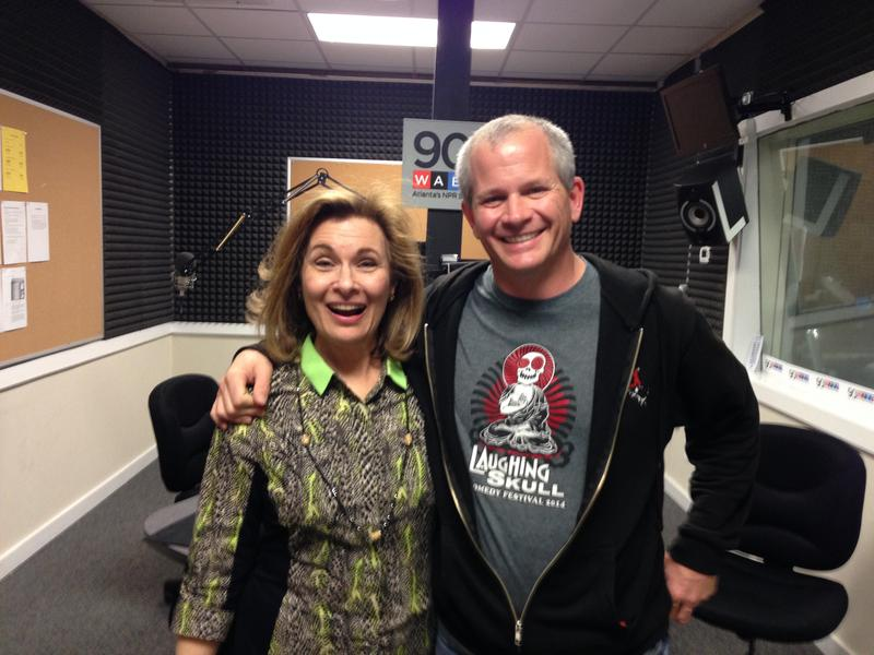 Lois Reitzes with Laughing Skull Lounge founder Marshall Chiles, who heads up the Laughing Skull Comedy Festival.