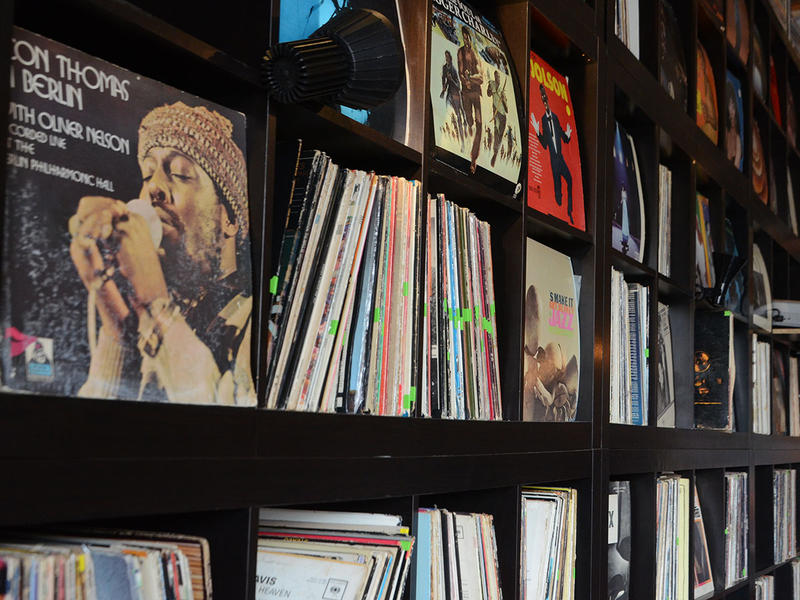 The records de Forest plays for his online WERD show are from a client's donation.