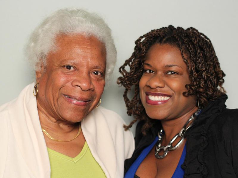 Christine Glass and Zakiyyah May at StoryCorps Atlanta.