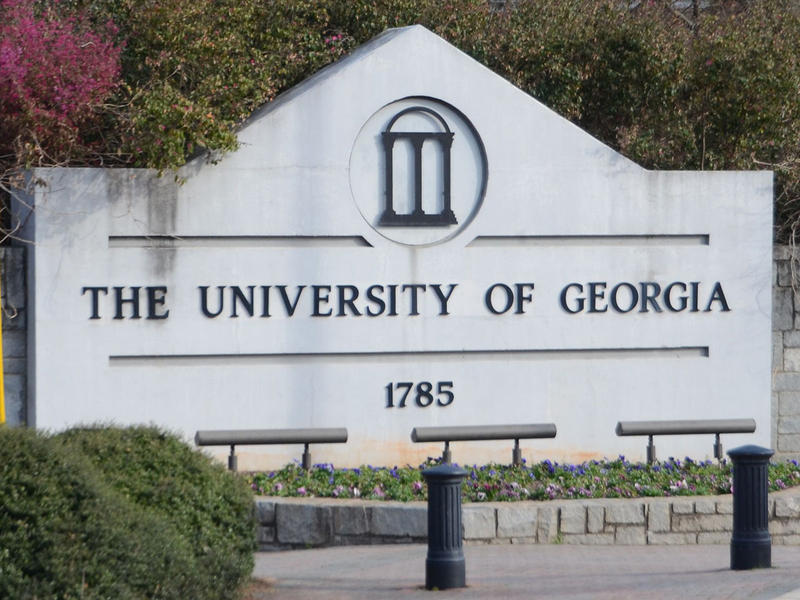 The University of Georgia sign in Athens, Georgia on Wednesday, March 18, 2015.