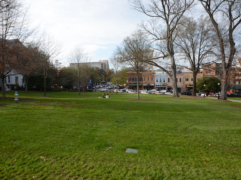 The University of Georgia North Campus green in Athens, Georgia on Wednesday, March 18, 2015. (Photo/Brenna Beech)
