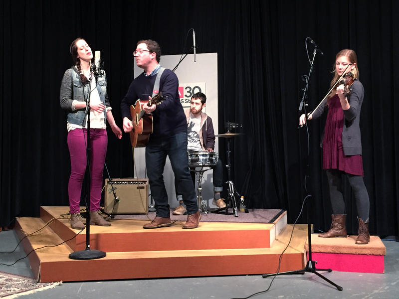 The band Book Club performs at WABE, March 3, 2015.