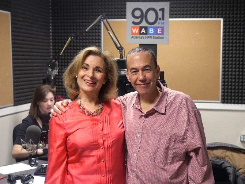 WABE's Lois Reitzes with comedian Gilbert Gottfried, in Atlanta for a run of performances at the Improv Comedy Club March 12-14.