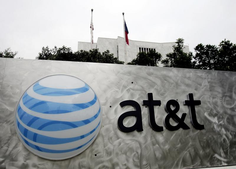 The AT&T, Inc. logo is seen on on of the company's buildings in a San Antonio file photo from April 25, 2006.