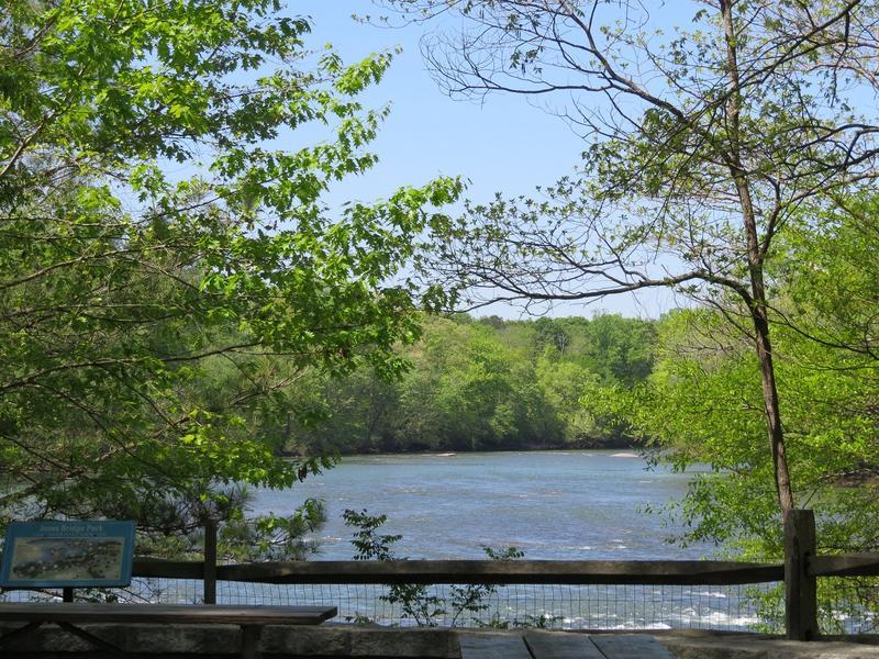 Chattahoochee River at Jones Bridge Park in Peachtree Corners