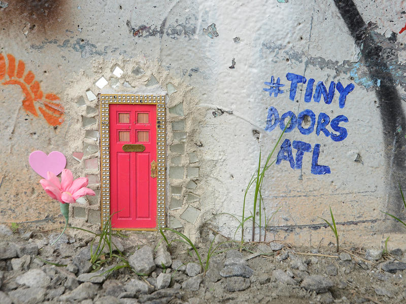 The second Tiny Door is conveniently located on the BeltLine near the O4W skate park.